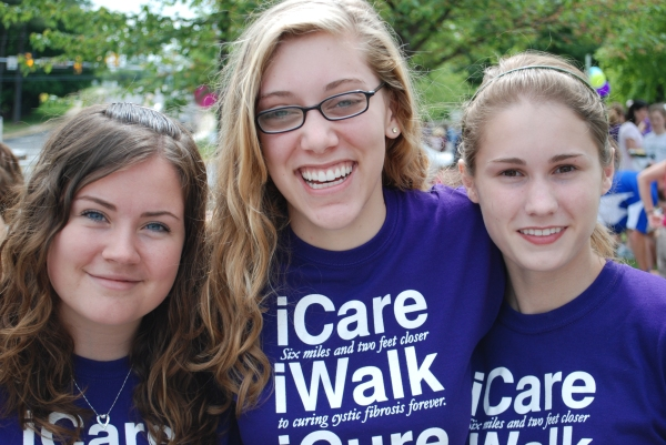 Jessica, Hannah and Shelby at last year's Megan's Walk.